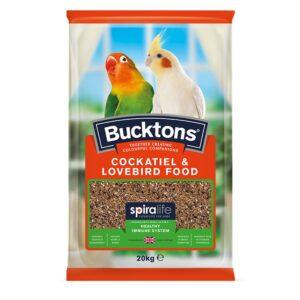 Bucktons Cockatiel & Lovebird Food with Spiralife 20kg