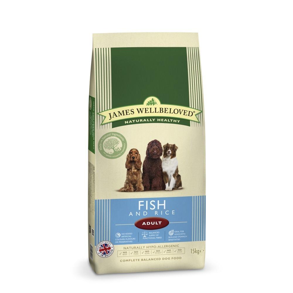 James Wellbeloved Fish Rice Adult Dog Food 15kg